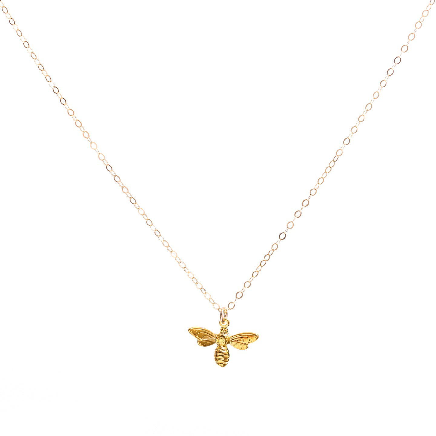 Minimal Gold Bee Necklace
