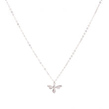 Load image into Gallery viewer, Minimal Silver Bee Necklace