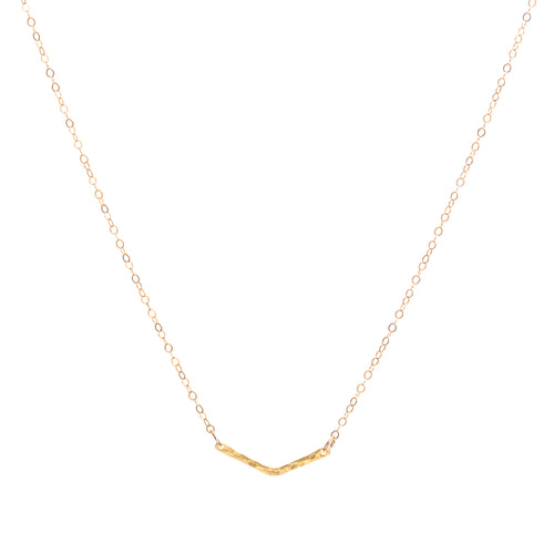 Minimal Gold Chevron Necklace