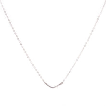 Load image into Gallery viewer, Minimal Silver Chevron Necklace