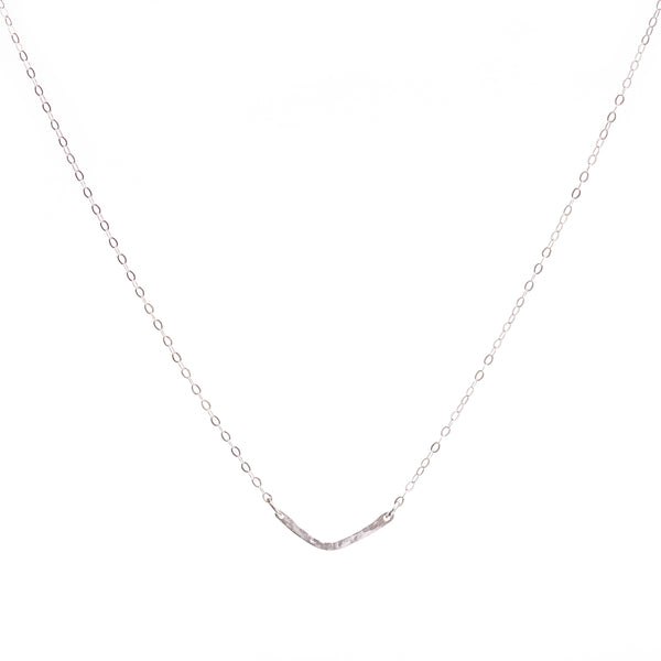 Minimal Silver Chevron Necklace
