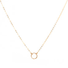 Load image into Gallery viewer, Minimal Gold Circle Necklace