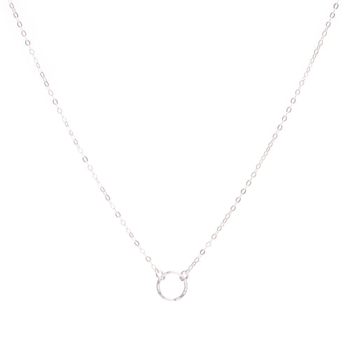 Minimal Silver Circle Necklace