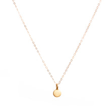 Load image into Gallery viewer, Minimal Gold Coin Necklace