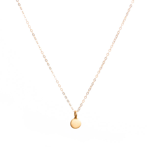 Minimal Gold Coin Necklace Handmade UK
