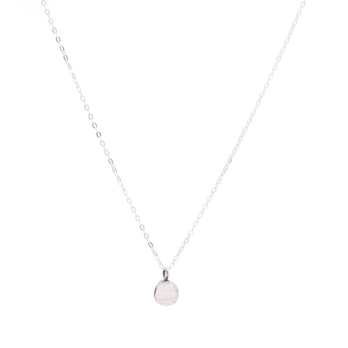 Minimal Silver Coin Necklace