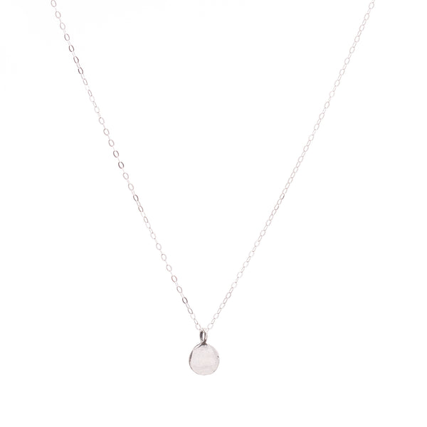 Minimal Silver Coin Necklace Handmade UK