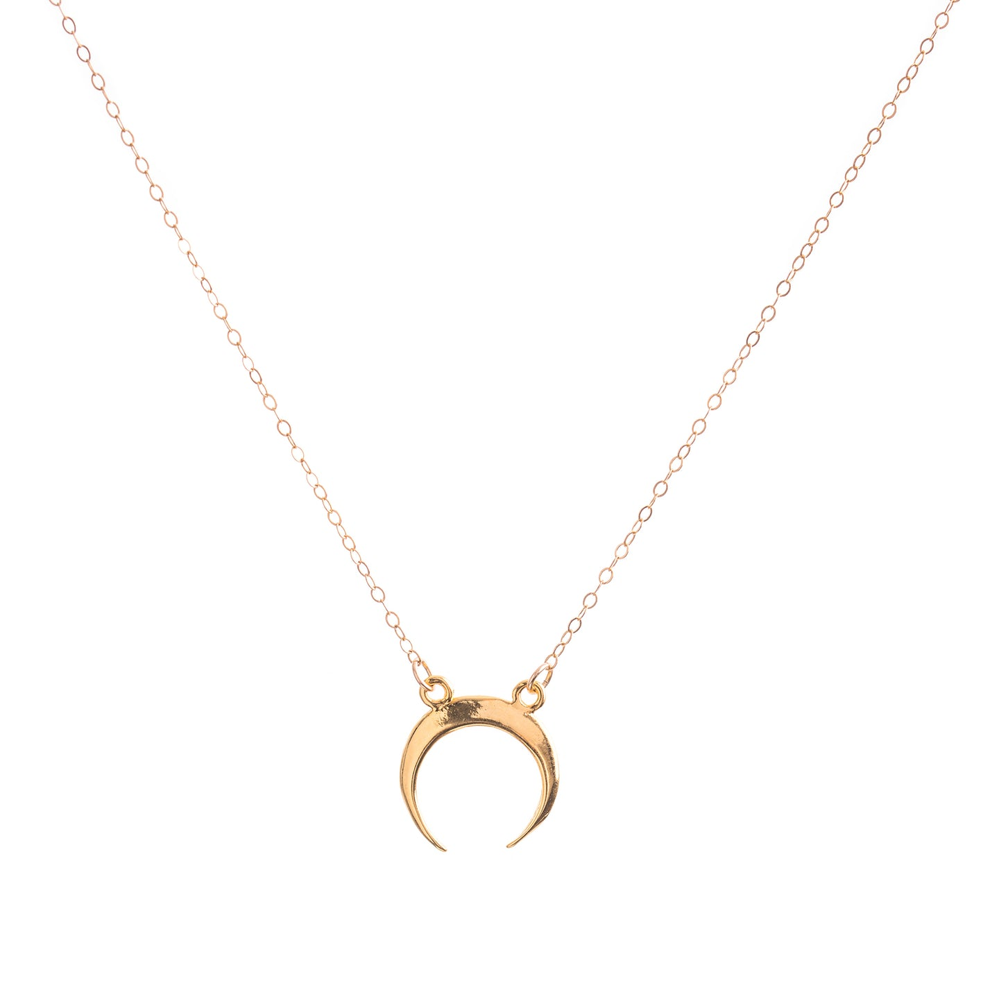 Minimal Gold Crescent Necklace
