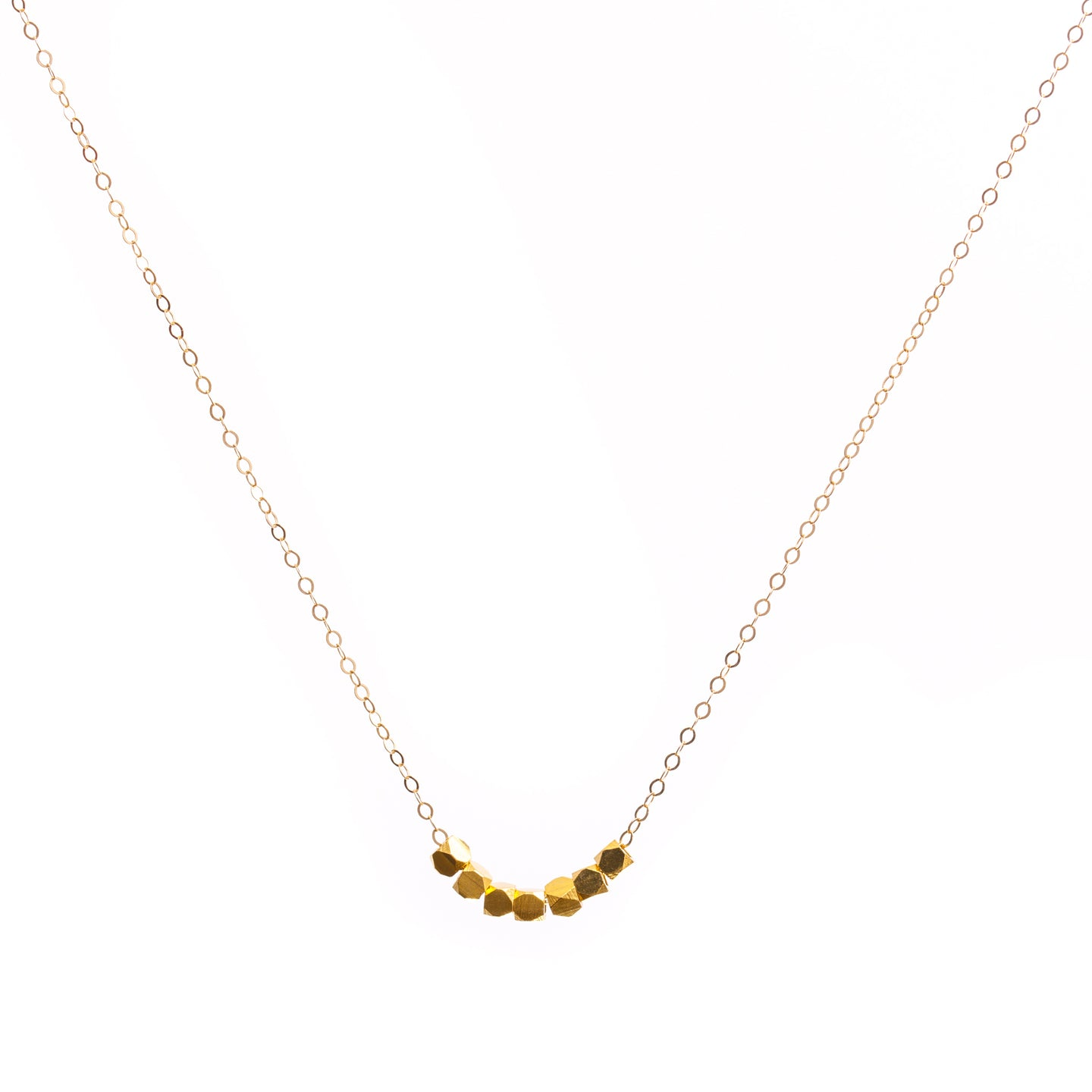 Minimal Gold Cubes Necklace