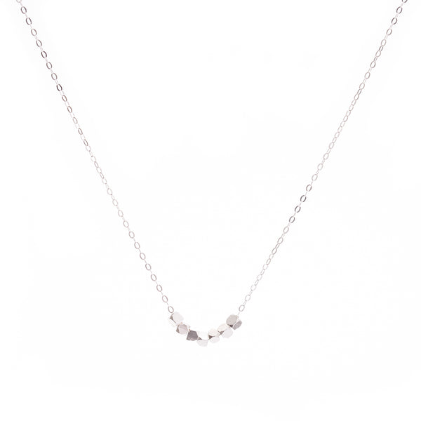 Minimal Silver Cubes Necklace