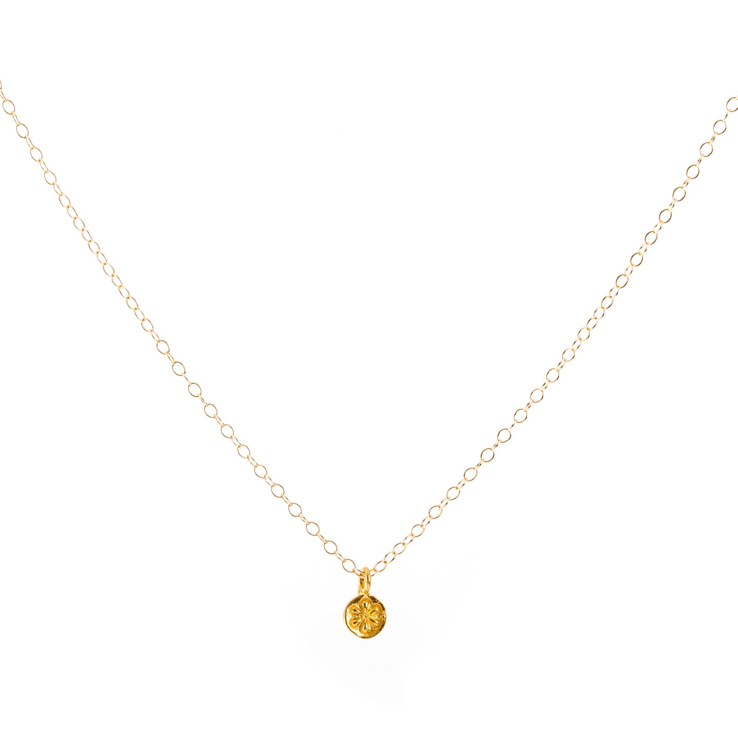 Minimal Gold Daisy Flower Necklace
