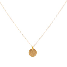 Load image into Gallery viewer, Minimal Gold Etched Medallion Necklace