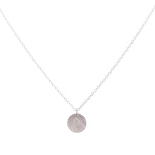 Load image into Gallery viewer, Minimal Silver Etched Medallion Necklace
