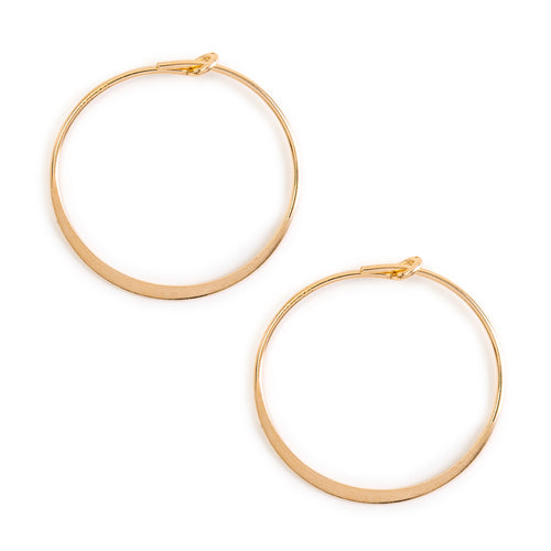 Minimal Gold Flat Hoop Earrings