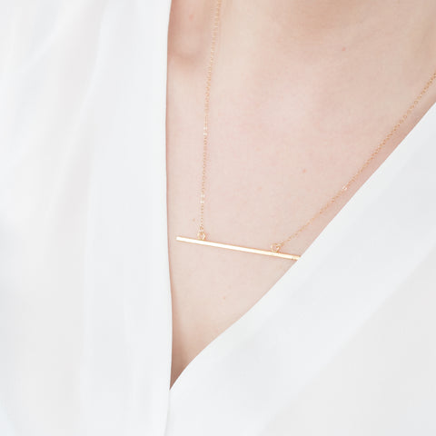 Minimal Bar Necklace Handmade UK