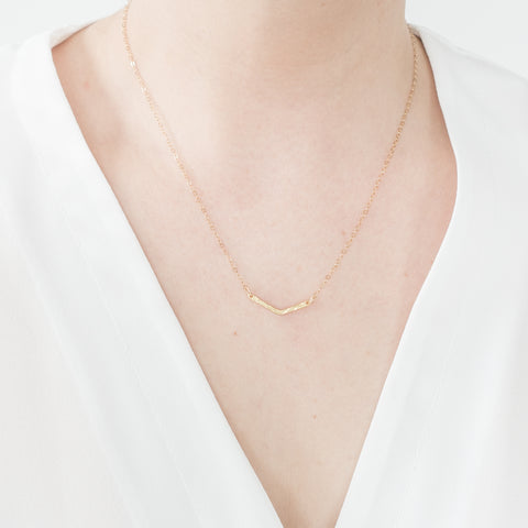 Minimal Chevron Necklace Handmade UK