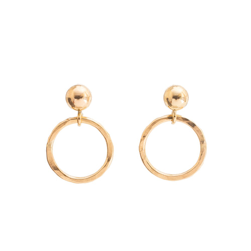 Minimal Gold Circle Earrings