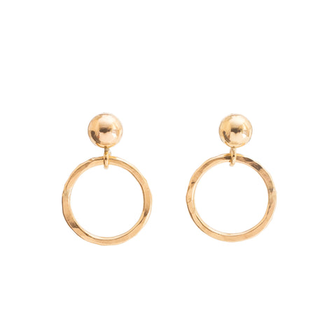 14k Gold Circle Earrings – Oh My Clumsy Heart