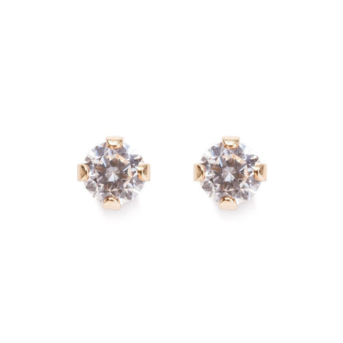 Minimal Gold CZ Diamond Studs