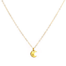 Load image into Gallery viewer, Minimal Gold Crescent Moon Necklace