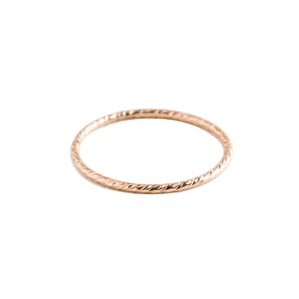 Minimal Textured Stacking Rings