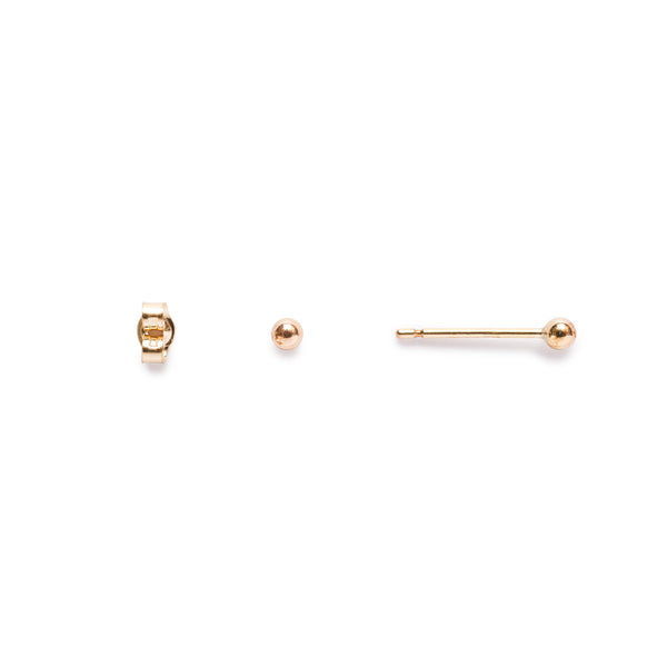 Gold Sleeper Studs