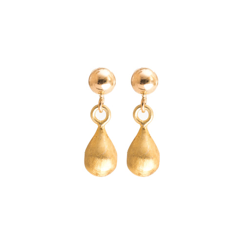 Minimal Gold Teardrop Earrings