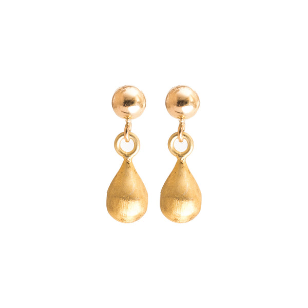 22k Gold Teardrop Earrings