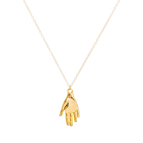 Minimal Gold Protective Hand Necklace