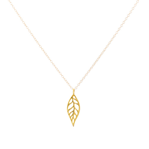 Minimal Gold Leaf Necklace