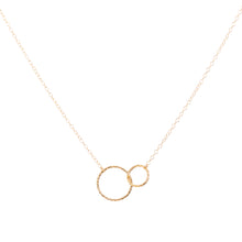 Load image into Gallery viewer, Minimal Gold Linked Circles Necklace