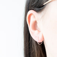 Load image into Gallery viewer, Minimal Gold Hexagon Hoop Earrings
