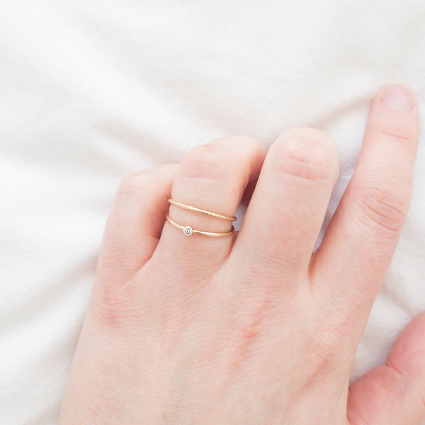 Minimal Thin Stacking Ring Gold
