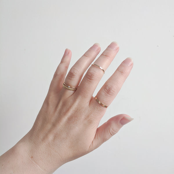 Handmade Minimal Stacking Rings
