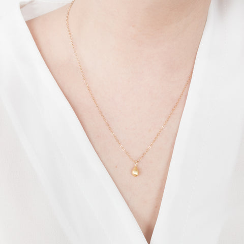 Minimal Teardrop Necklace Handmade UK