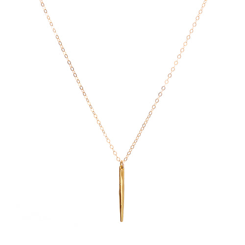 Minimal Gold Needle Spike Necklace