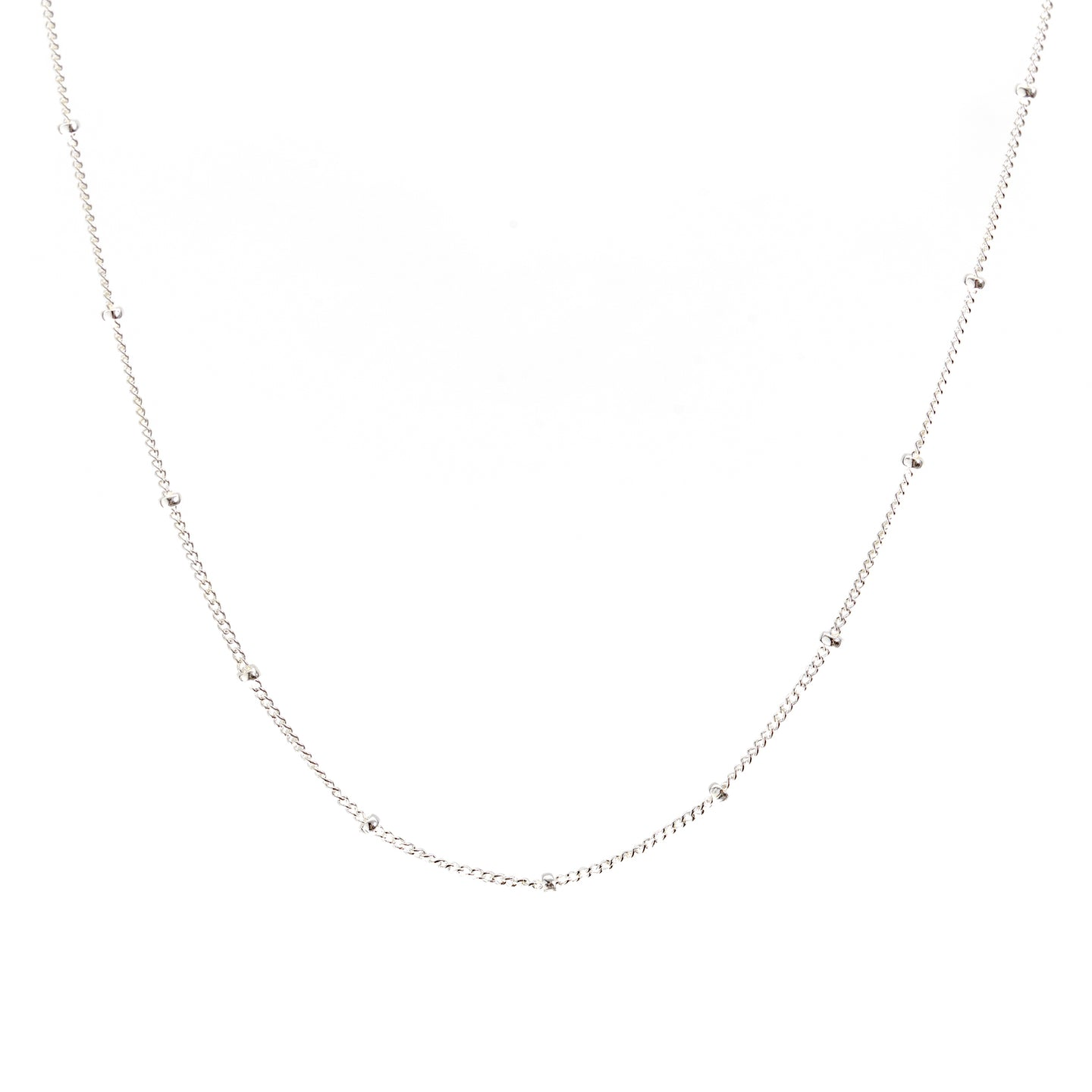 Minimal Satellite Chain Necklace