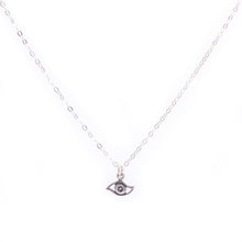 Load image into Gallery viewer, Minimal Silver Eye Necklace