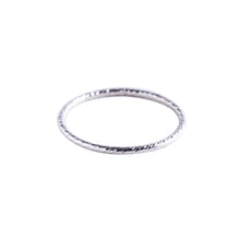 Load image into Gallery viewer, Minimal Silver Textured Stacking Ring
