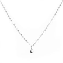 Load image into Gallery viewer, MInimal Silver Teardrop Necklace