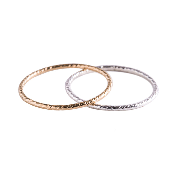 Minimal Thin Stacking Rings