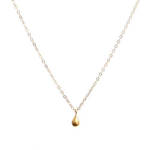 Minimal Gold Teardrop Necklace