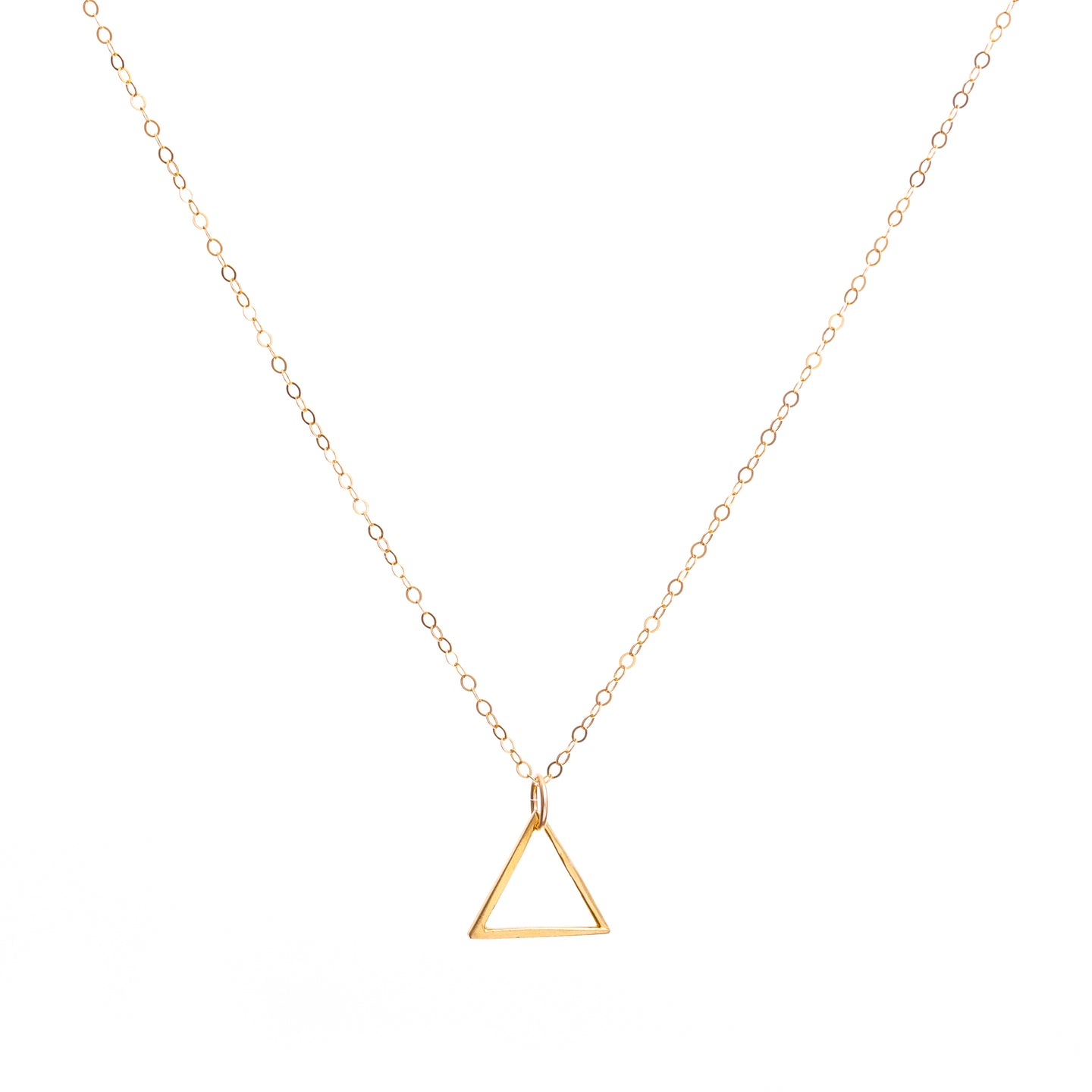 Minimal Gold Triangle Necklace
