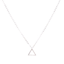 Load image into Gallery viewer, Minimal Sterling Silver Triangle Necklace