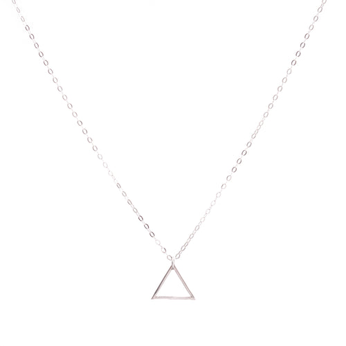 Minimal Sterling Silver Triangle Necklace