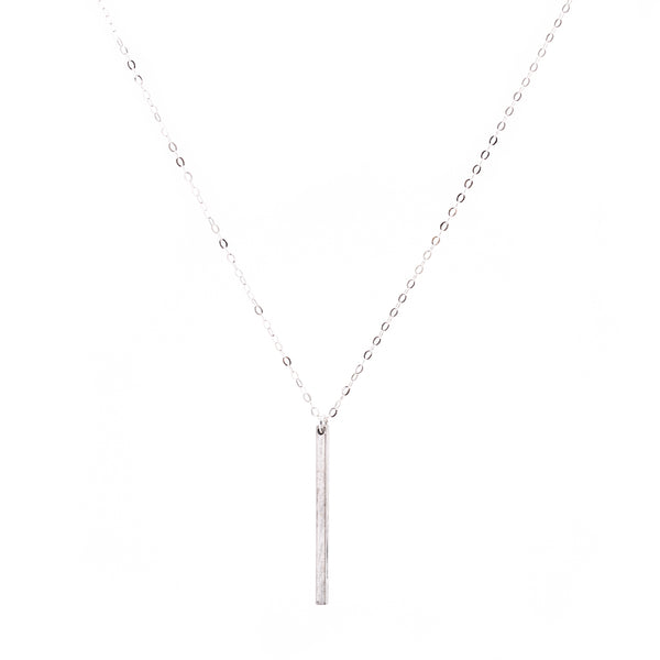 Minimal Vertical Bar Necklace Handmade UK