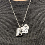 Mom Forever in My Heart + Always on My Mind Necklaces