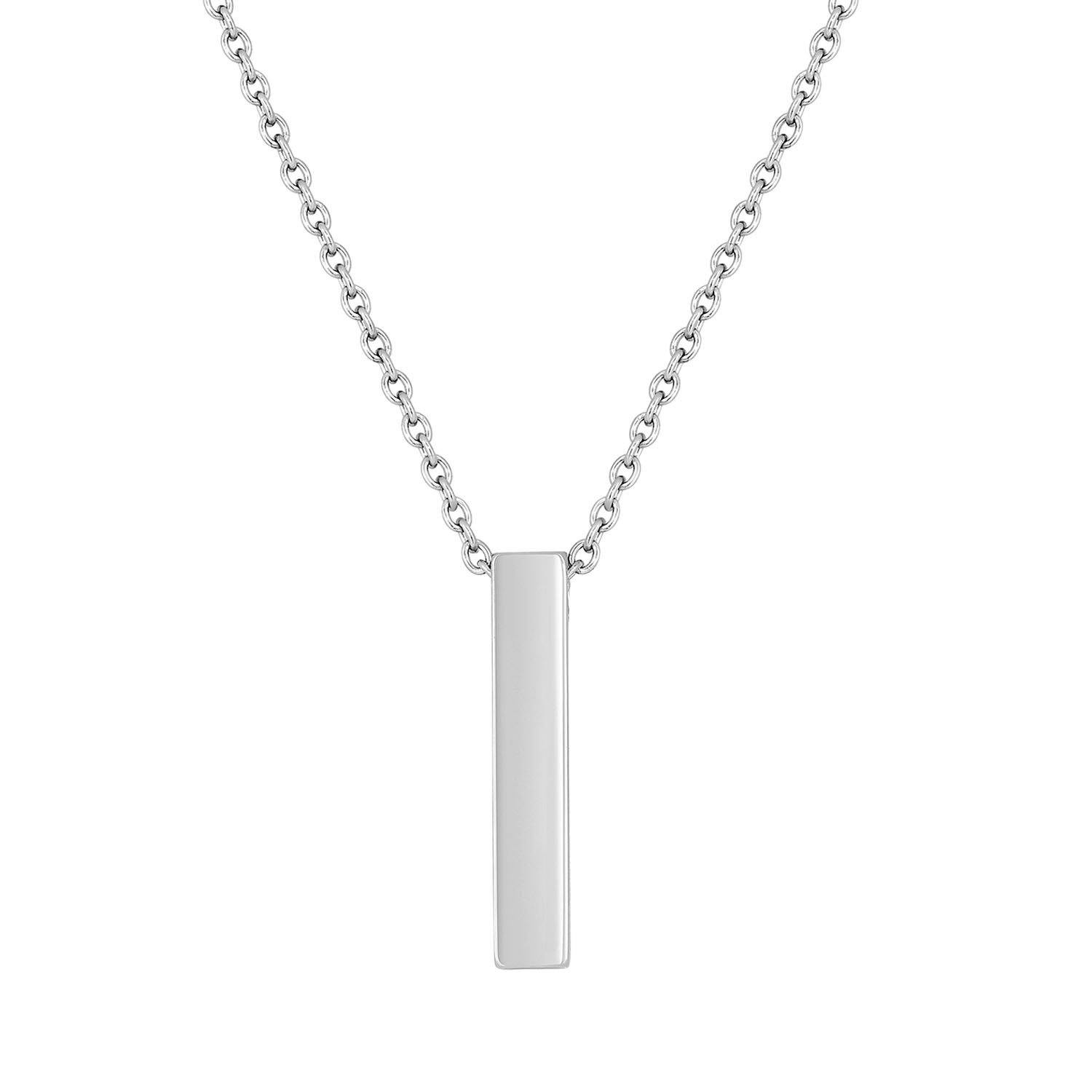 Cremation Jewelry Necklace for Ashes - Bar Pendant