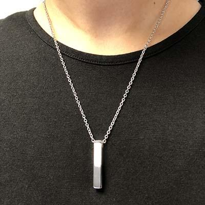 Bar Cremation Necklace holds ashes. Buy Cremation Jewelry from Forever in My Heart