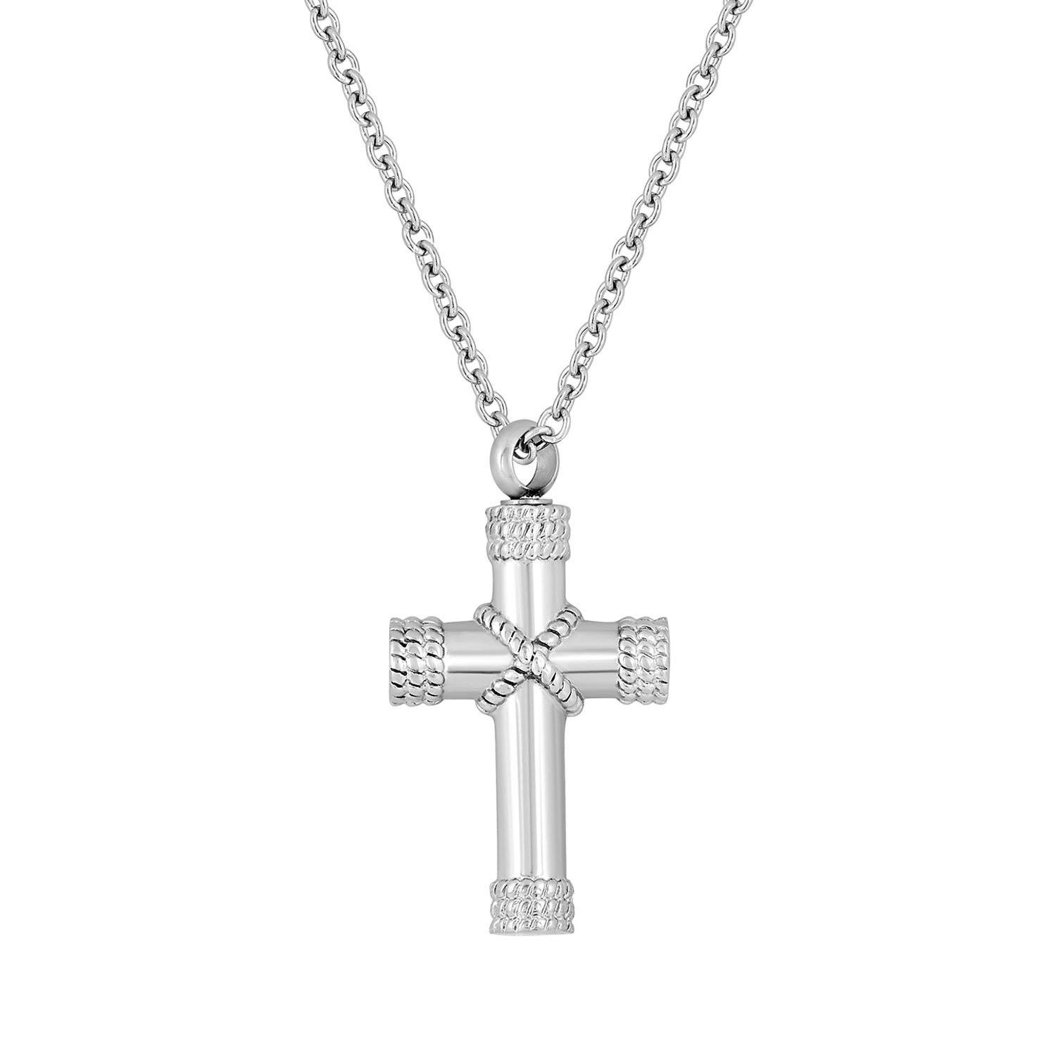 Cremation Jewelry Necklace for Ashes - Cross Necklace